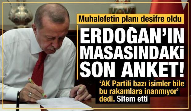 Erdoğan'ın masasındaki son anket! Muhalefetin planı deşifre oldu