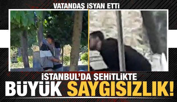 İstanbul'da şehitlikte büyük saygısızlık! Vatandaş isyan etti