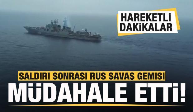 Korsanlar saldırıya geçti!  Rus savaş gemisi müdahale etti