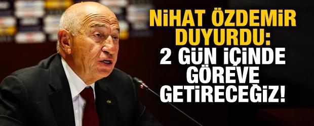 Nihat Özdemir: MHK'yı 2 gün içinde göreve getireceğiz