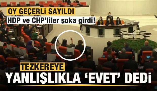 Pervin Buldan tezkereye yanlışlıkla 'evet' dedi! HDP ve CHP'liler şoka girdi