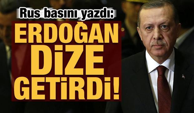 Rus basını yazdı: Erdoğan hepsini dize getirdi!