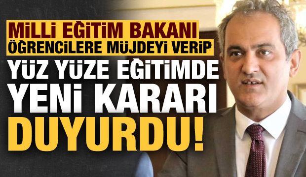 Son dakika: Bakan Özer, öğrencilere müjdeyi verip alınan yeni kararı da duyurdu!