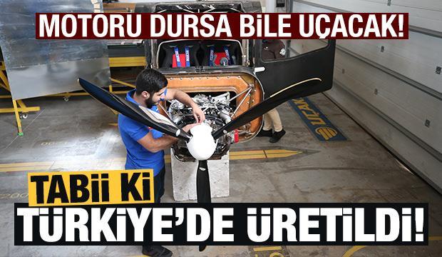 Türkiye'ye has uçak! Motoru dursa bile uçuyor