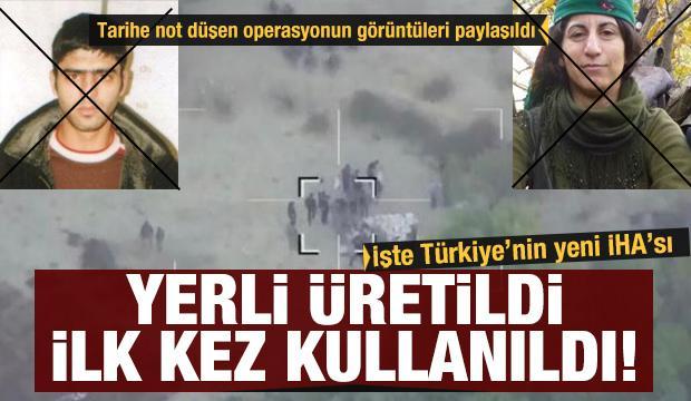 Türkiye'nin yeni İHA'sı 'UÇBEY'in ilk kez kullanıldı! Müthiş operasyonun görüntüleri paylaşıldı