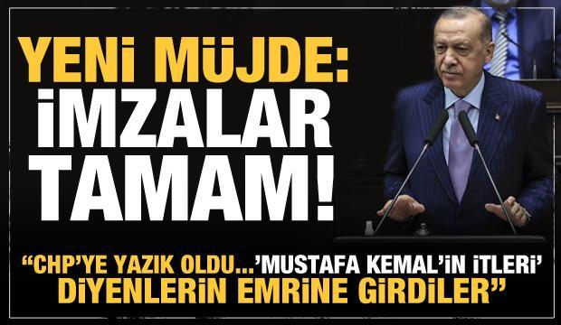 Yeni müjde veren Erdoğan'dan CHP'ye tezkere tepkisi: Boyun eğdiler yazık!