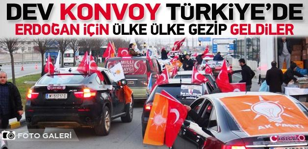 """""""Milli İradeye Saygı Konvoyu"""" Türkiye'de"""