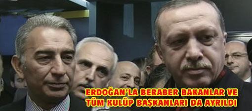 Erdoğan tepki nedeniyle staddan ayrıldı
