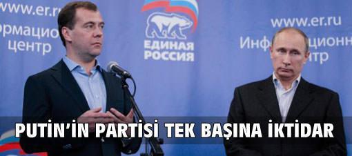 Putin'in partisi tek başına iktidar