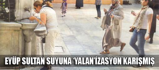 Eyüp Sultan'daki su temiz çıktı