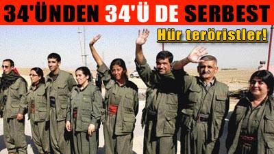 Gözaltındaki bütün PKK'lılar serbest!