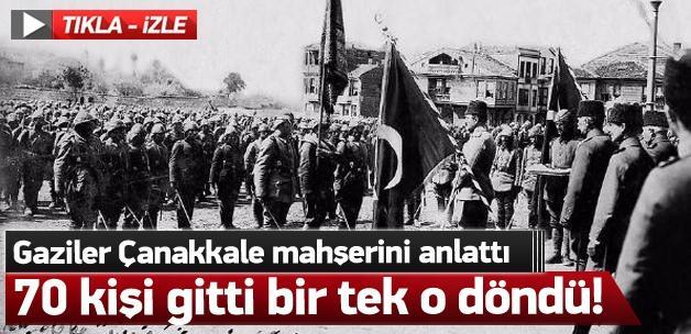 70 Çanakkale gazisinin dilinden Çanakkale mahşeri!