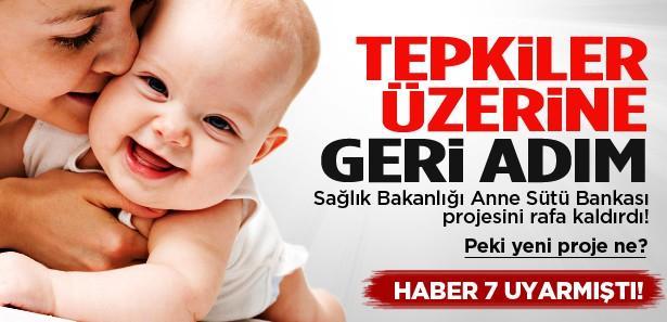 Bakanlık Anne Sütü Bankası projesini rafa kaldırdı!