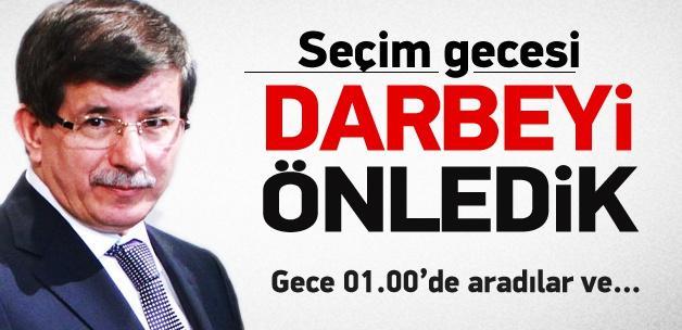 Davutoğlu: Seçim gecesi darbeyi önledik