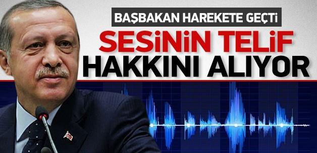 Erdoğan sesinin telif haklarını alıyor