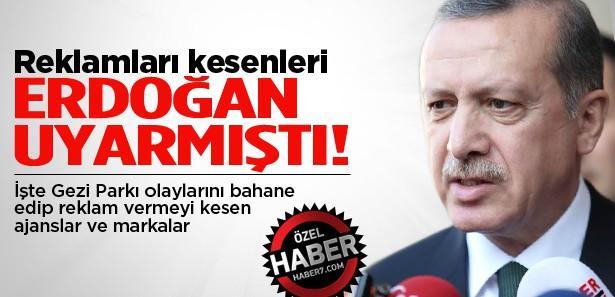 Erdoğan'ın uyardığı reklamı kesen aracı kuruluşlar