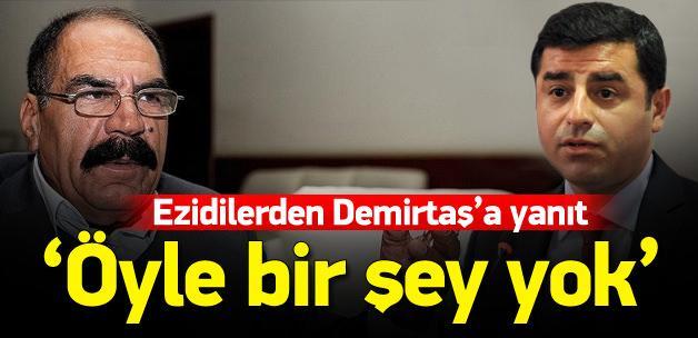 Ezidiler'den Demirtaş'a yalanlama