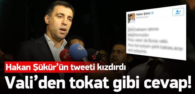 Hakan Şükür'ün tweeti valiyi kızdırdı