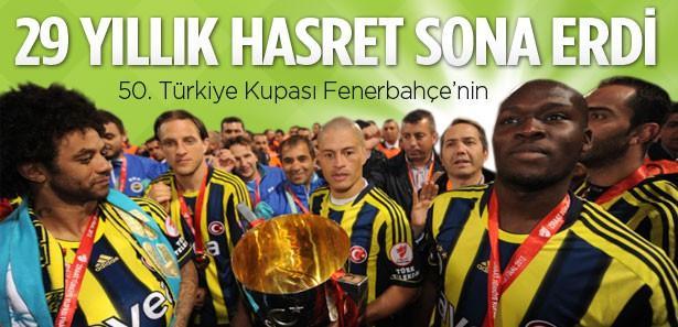 Kupa 29 yıl sonra Fenerbahçe'nin
