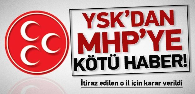 MHP'nin itirazını YSK da reddetti!