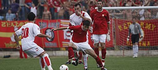 Bosna'da olaylı maç yarım kaldı