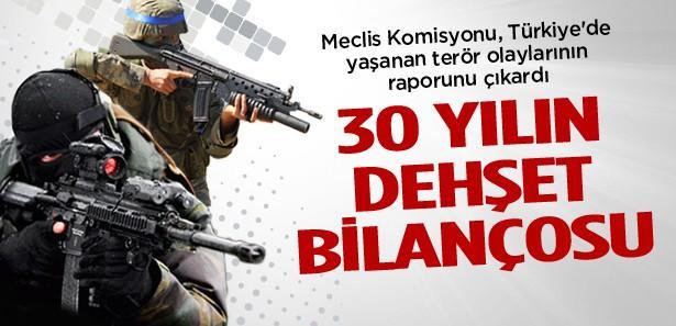 Türkiye'de 30 yılın terör bilançosu